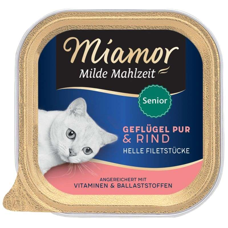 Miamor Milde Mahlzeit Senior Poultry pure & Beef 100 g test