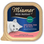 Milde Mahlzeit Senior Poultry pure & Beef 100 g