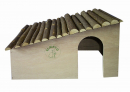 Elmato Natural Wooden House for Dwarf Rabbits 43x30 cm