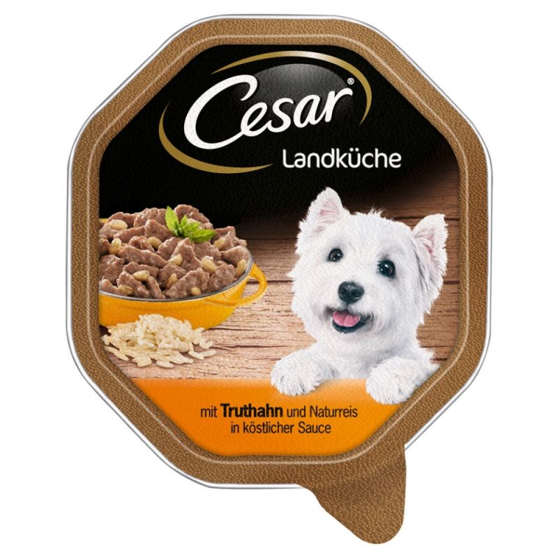 Cesar Country Kitchen Turkey and brown Rice in Sauce 150 g 4008429041013 anmeldelser