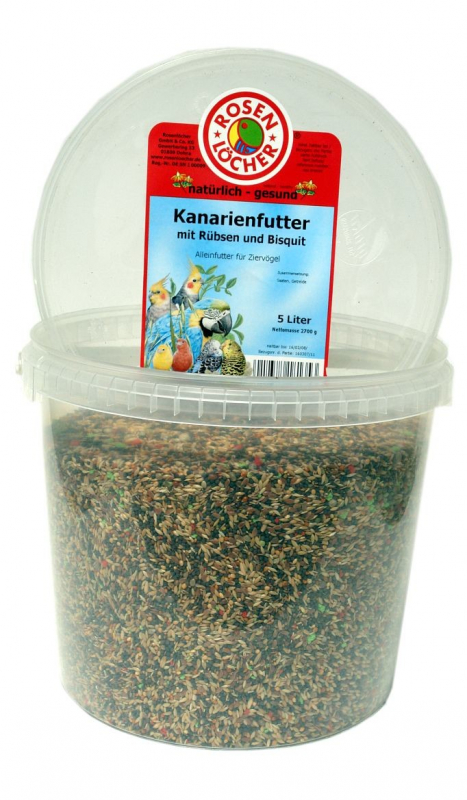 Rosenlöcher Canary Food with Turnip Rape & Biscuit 5L/2.7 kg