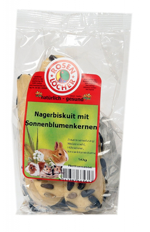Rosenlöcher  Rodent Biscuits with Sunflower Seeds 50 g 4012387665617