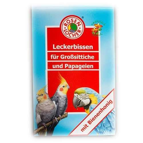 Large Parakeets and Parrots Treats by Rosenlöcher 20 g buy online