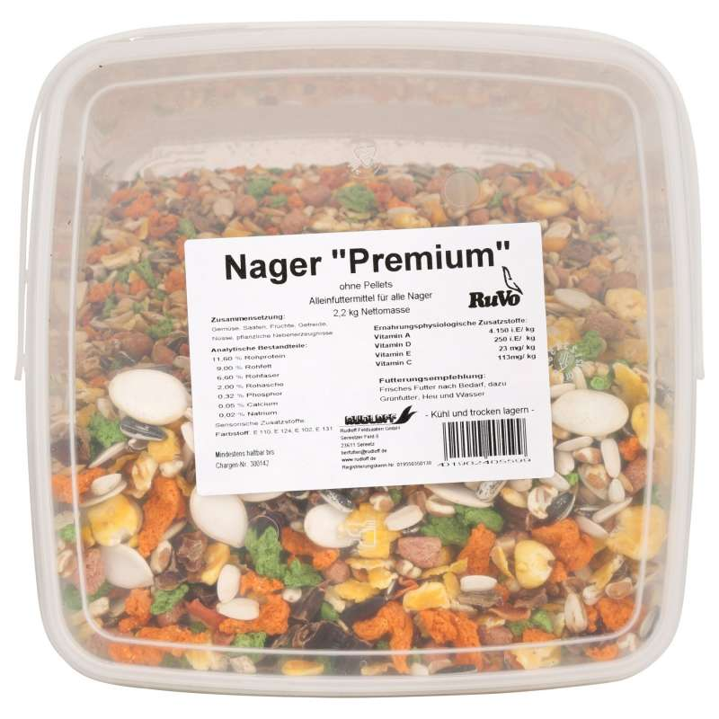 Ruvo Nagerfutter Premium ohne Pellets 2.2 kg