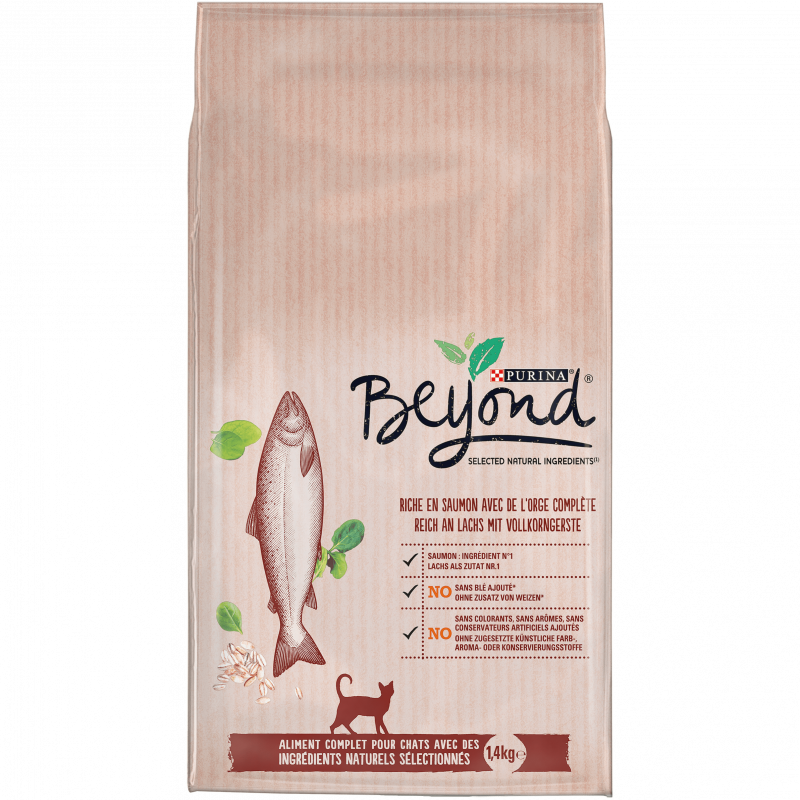 Purina Beyond rich in Salmon with Whole Barley 7613036140669 kokemuksia