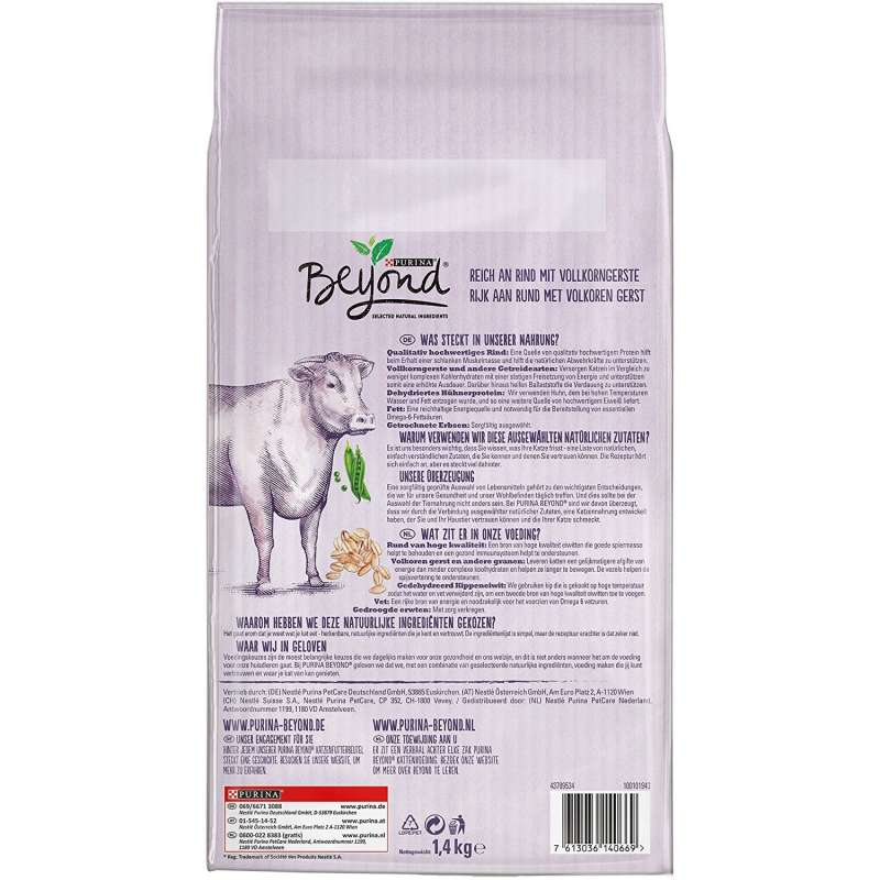 Purina Beyond rich in Beef with Whole Barley 850 g, 1.4 kg