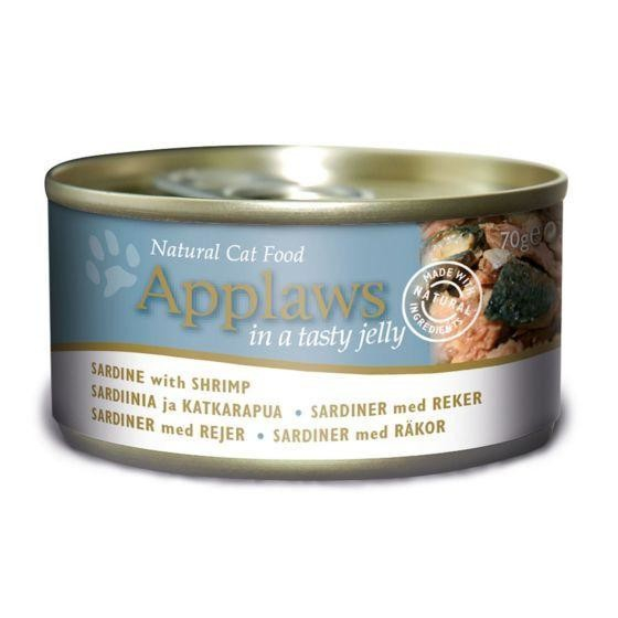 Applaws Natural Cat Food Sardine with Shrimps in Jelly 70 g 5060333435509