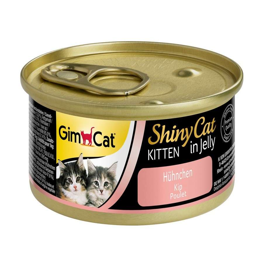 GimCat ShinyCat Poulet in Jelly pour chatons 70 g