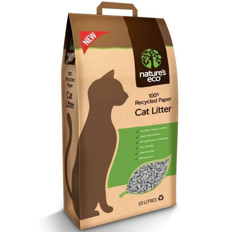 Nature's Eco Recycled Papel Lecho para Gatos 10 l 9554100196206 opiniones