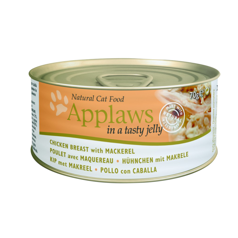 Applaws Natural Cat Food Chicken with Mackerel in Jelly 70 g