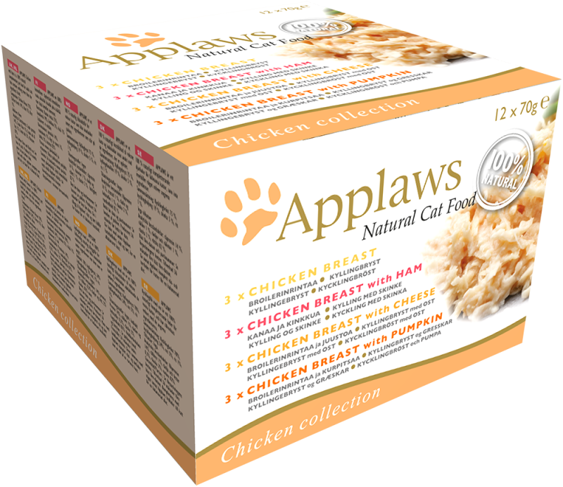 Applaws Natural Cat Food Chicken Selection Multipack 12x70 g 5060333437374 anmeldelser