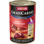 GranCarno Original Senior Beef & Turkey Hearts 400 g van Animonda