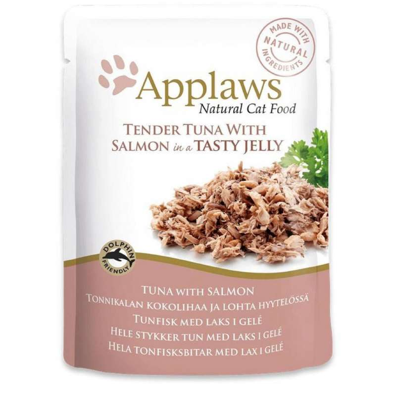Applaws Frisk taske Natural Cat Food Tun med Laks i gele 70 g