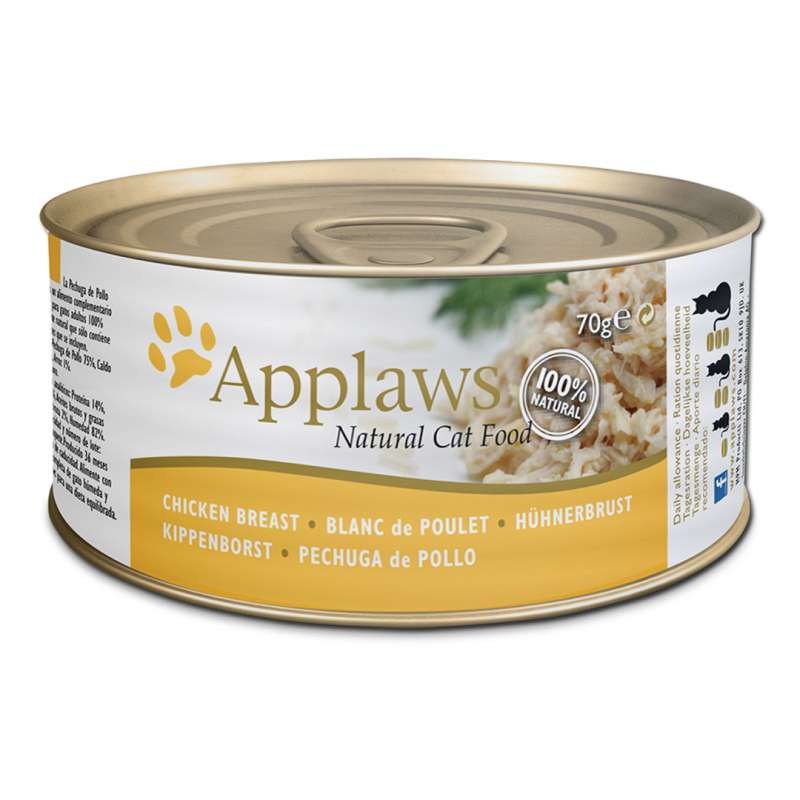 Applaws Natural Cat Food Kylling bryst 70 g, 156 g test