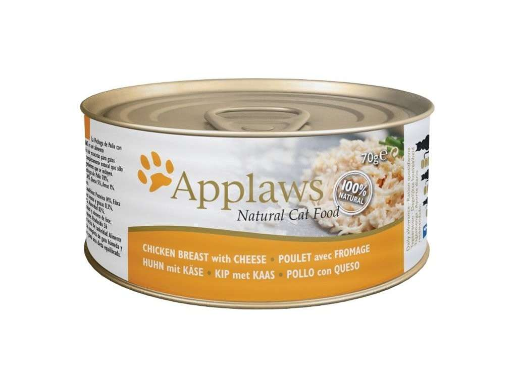 Applaws Natural Cat Food Chicken Breast with Cheese 70 g, 156 g