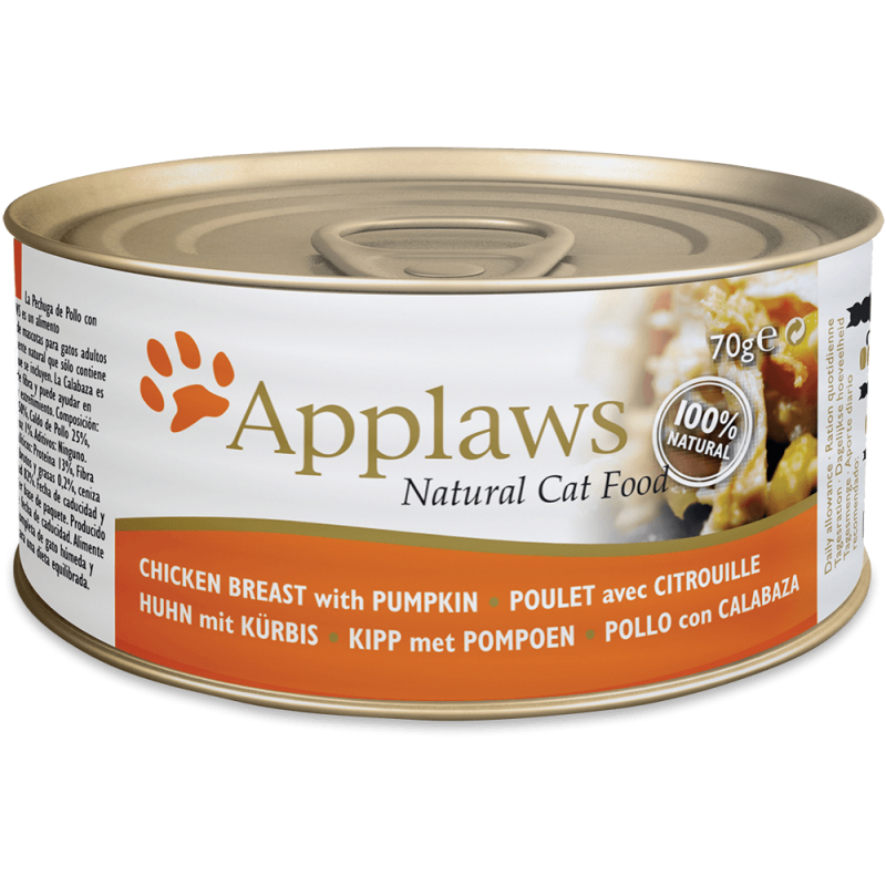 Applaws Natural Cat Food Pâtée au Poulet & Potiron 70 g