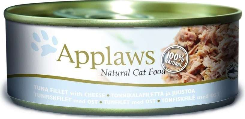 Applaws Natural Cat Food Tuna Fillet with Cheese 156 g, 70 g, 24x70 g