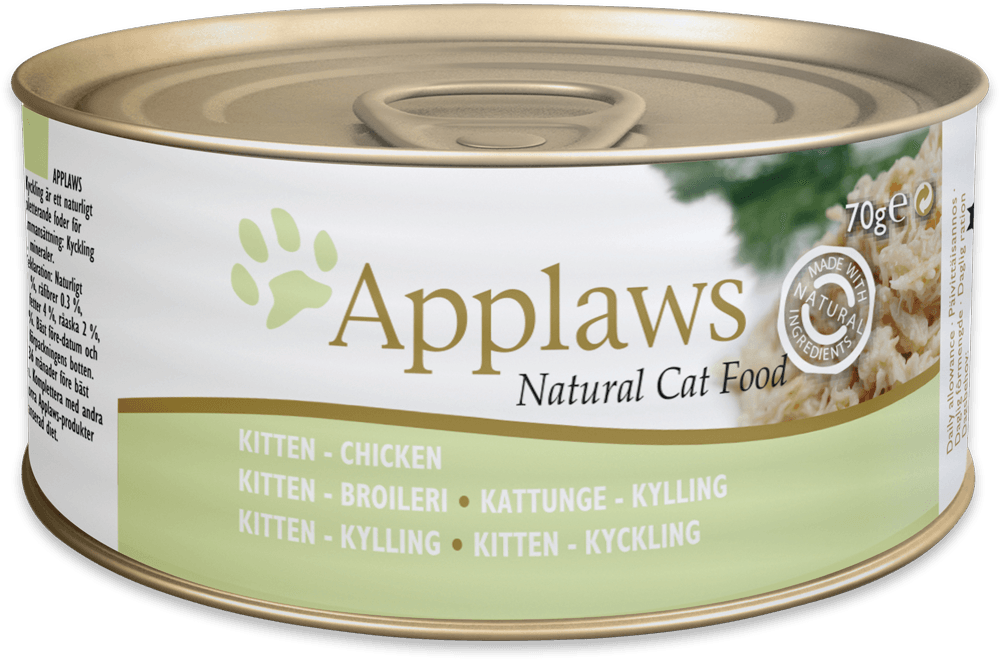 Applaws Natural Cat Food Kitten Chicken 70 g 5060122490009 erfaringer