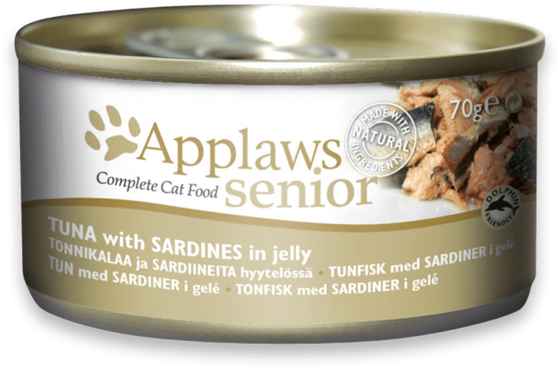 Applaws Senior Complete Cat Food Thunfisch mit Sardinen in Gelee 70 g