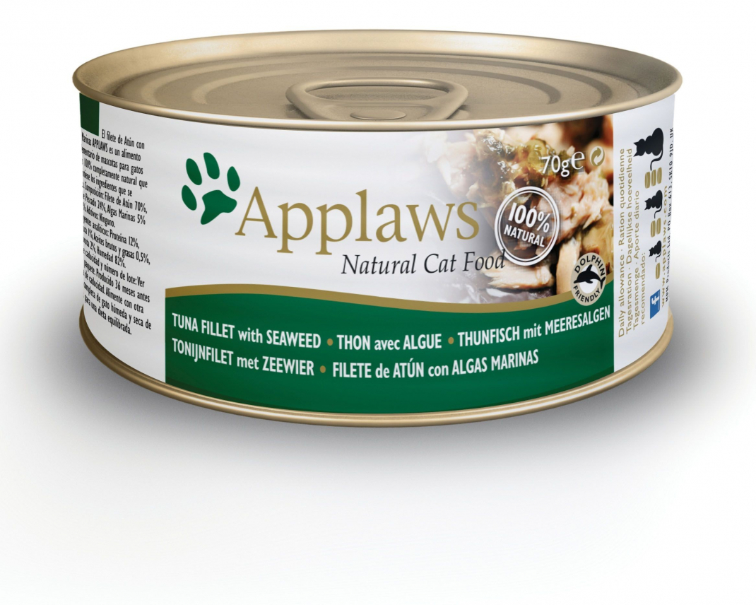 Applaws Natural Cat Food Filet de Thon & Algues 70 g, 156 g essay
