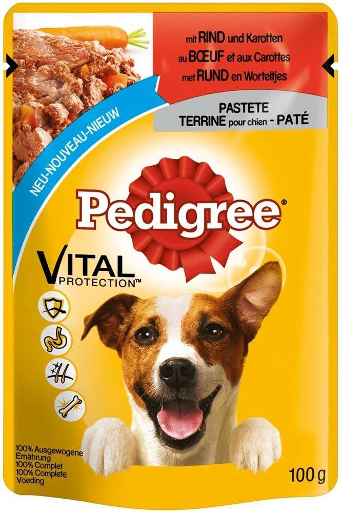 Pedigree Vital Protection Pate with Beef & Carrots 100 g osta edullisesti