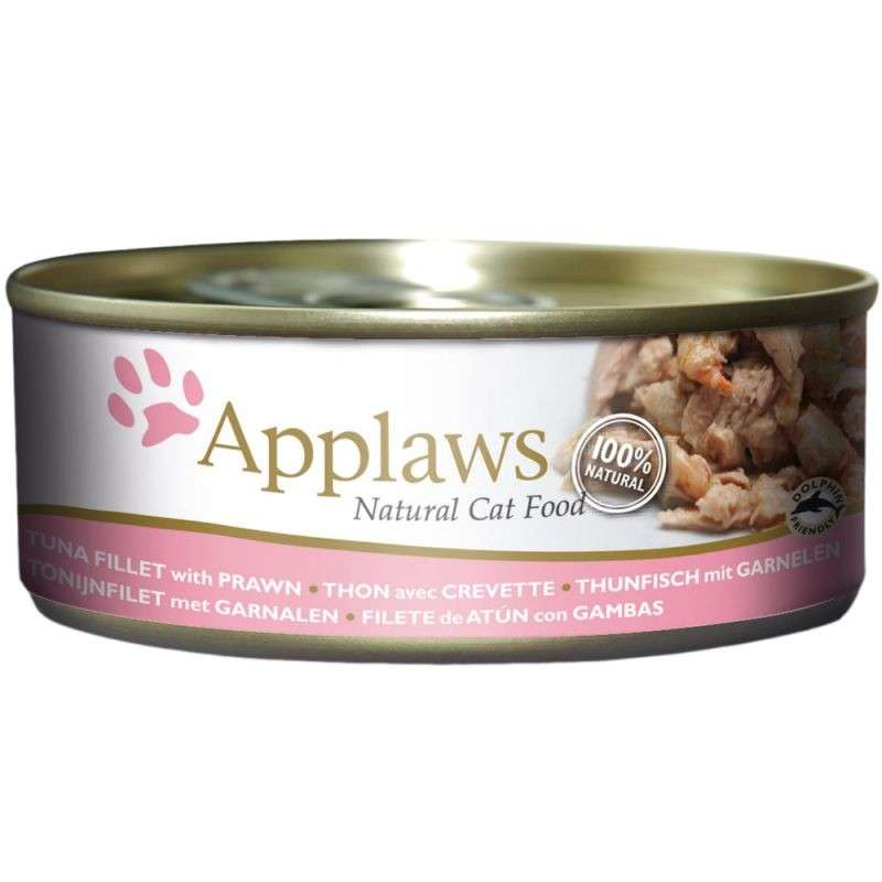 Applaws Natural Cat Food Thon avec Crevette 156 g