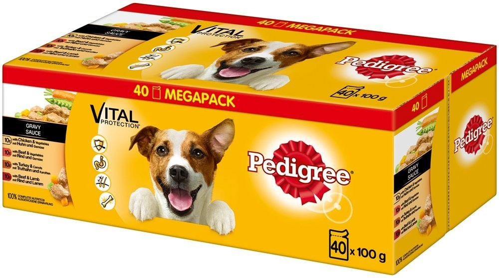 Pedigree Vital Protection Adult 12er Multipack in Sauce 12x100 g, 40x100 g