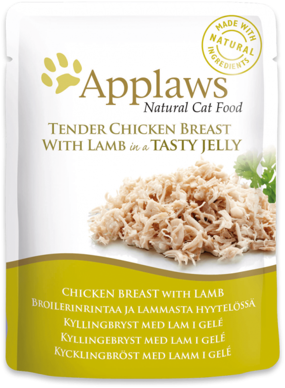 Applaws Frisk taske Natural Cat Food Kyllingebryst med Lam i gele 70 g