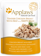 Applaws Pouch Natural Cat Food Chicken with Beef in Jelly 70 g