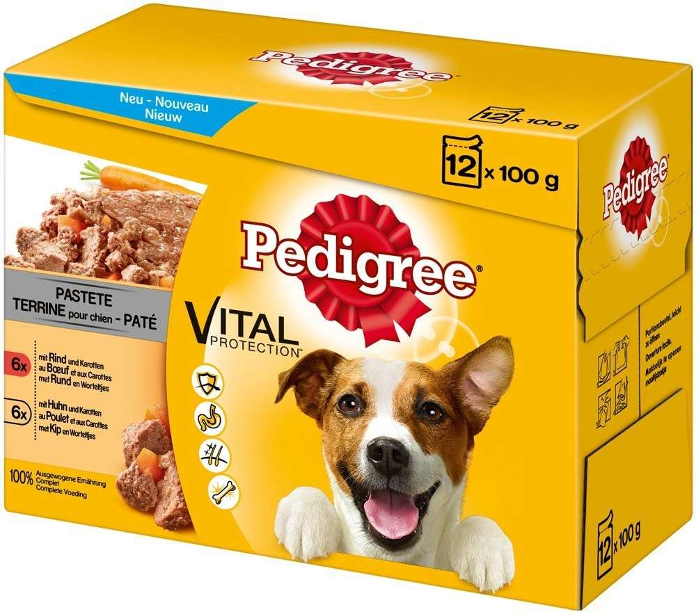 Pedigree Vital Protection Pate with Beef, Chicken & Carrot 12x100 g, 4x100 g