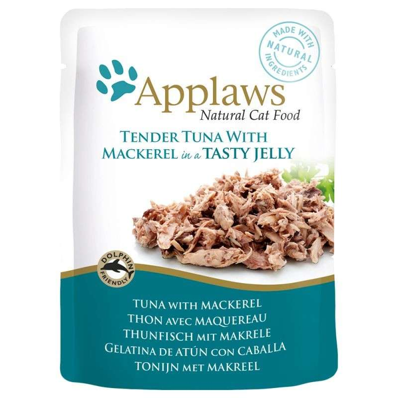 Applaws Frisk taske Natural Cat Food Tun med Makrel i gele 70 g