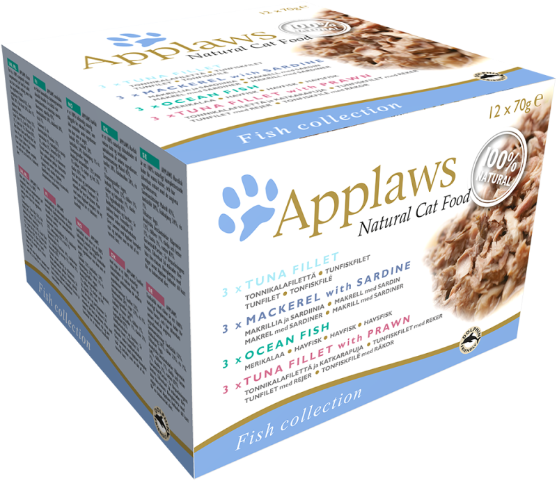 Applaws Natural Cat Food Vis Selection Multipack 12x70 g