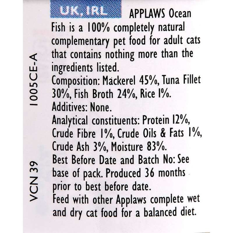 Applaws Natural Cat Food Poisson de mer 70 g