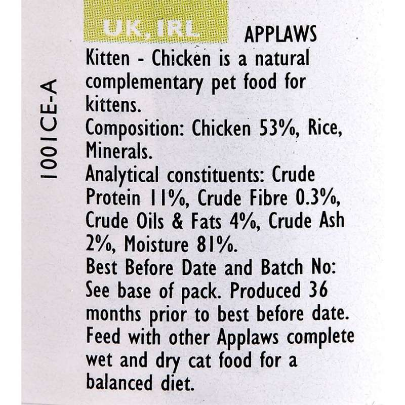 Applaws Natural Cat Food Kitten Pechuga de Pollo Peso 70 g