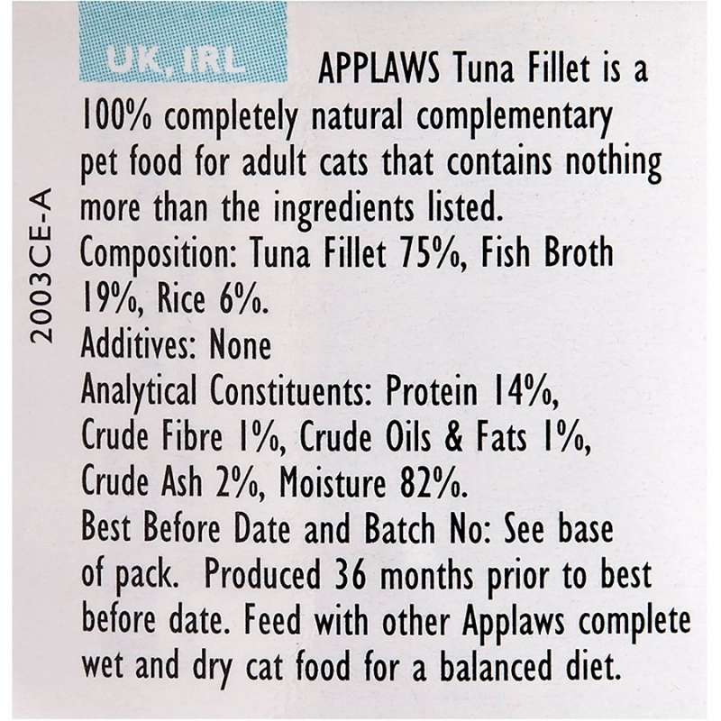 Applaws Natural Cat Food Tun fillet 156 g