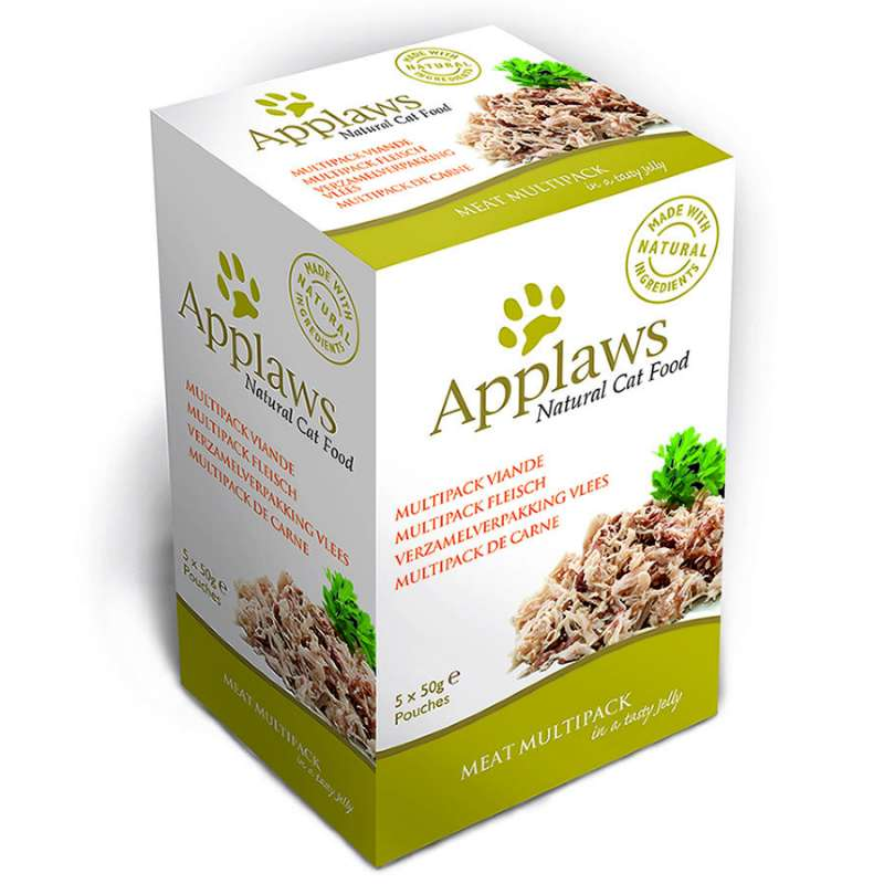 Pouches Natural Cat Food Meat Multipack in a Tasty Jelly by Applaws 5x50 g buy online