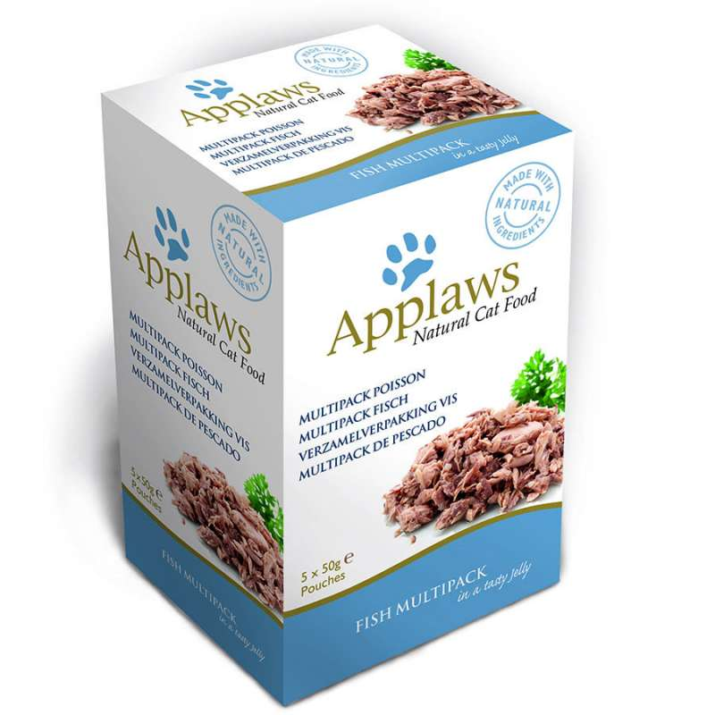 Applaws Pouches Natural Cat Food Fish Multipack in a Tasty Jelly 5x50 g 5060122496698 anmeldelser