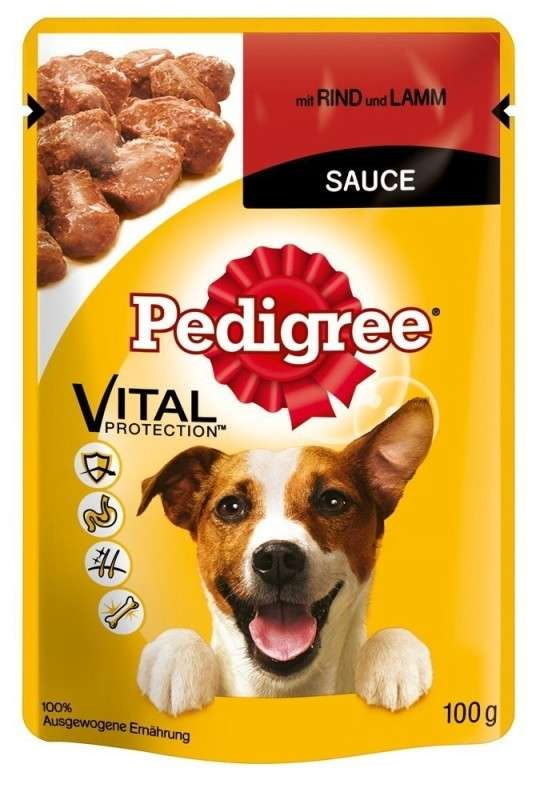 Pedigree Vital Protection Rind und Lamm in Sauce 100 g bei Zoobio.at