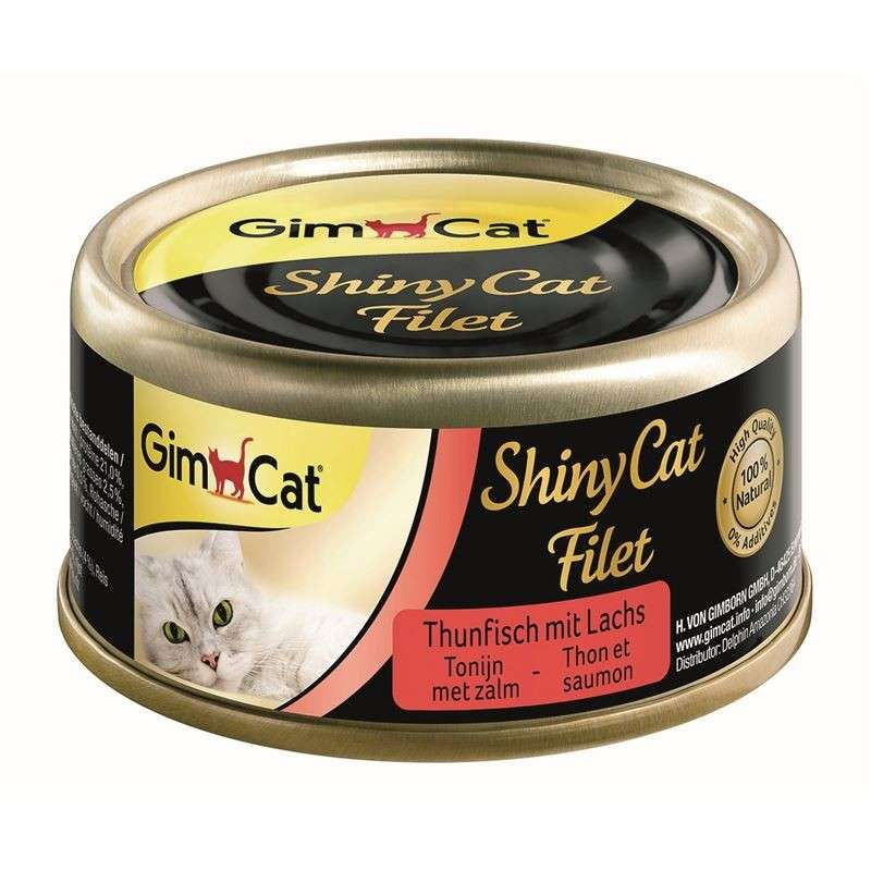 GimCat ShinyCat Filet Tonijn + Zalm 70 g