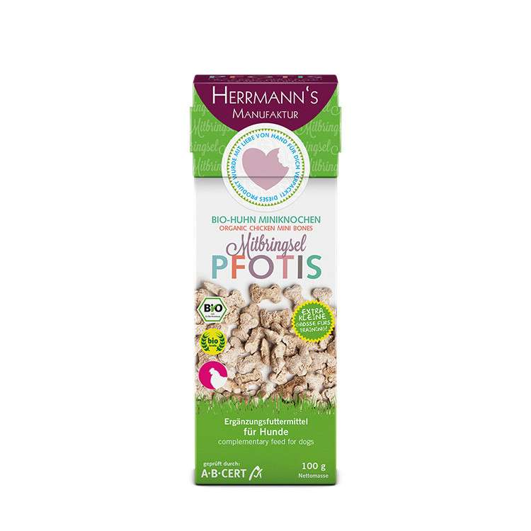 Herrmann's  Pfotis Organic Chicken Mini Bones EAN: 4047459008771 reviews