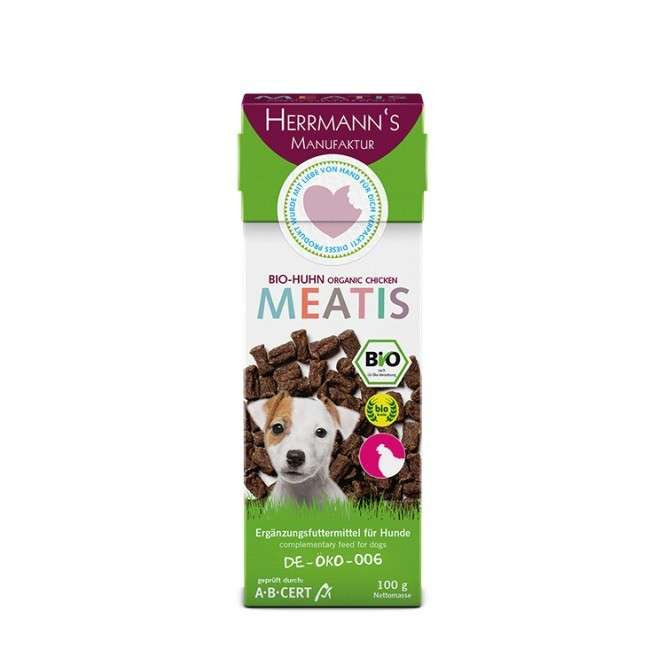 Herrmann's  Meaties Organic Chicken 100 g