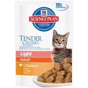 Hill's Science Plan Feline - Adult Light med Kylling i Sovs 85 g
