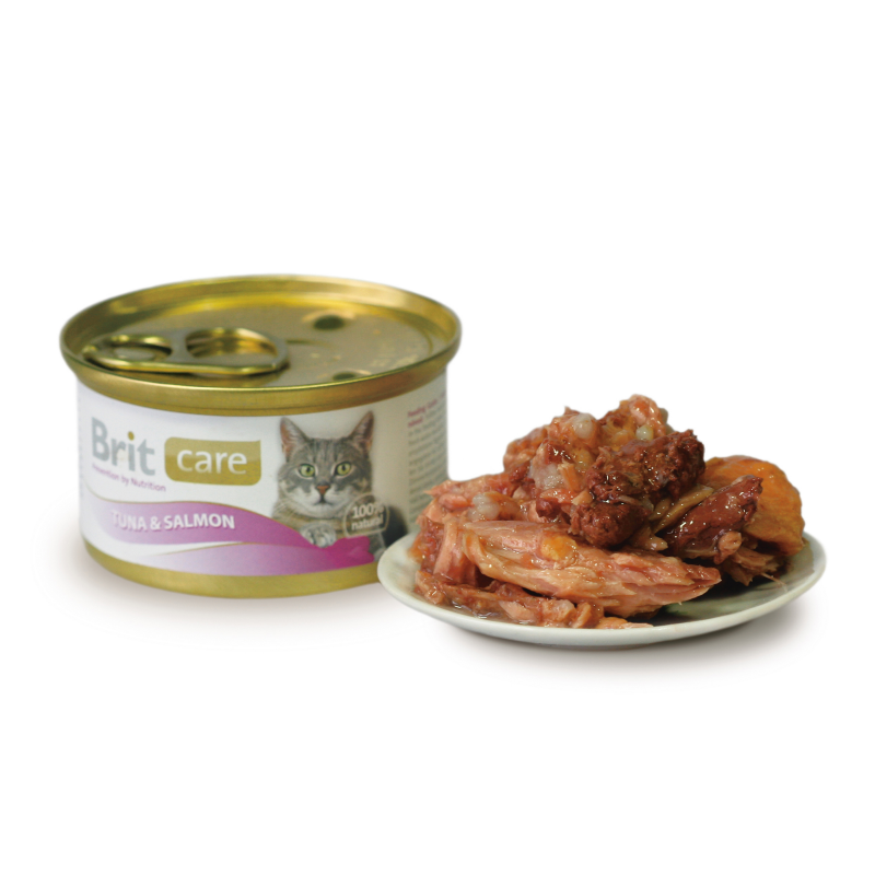 Brit Care Cat Tuna & Salmon 80 g kjøp billig med rabatt