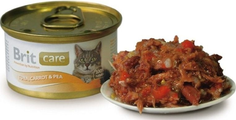Brit Care Cat Tuna, Carrot & Pea 80 g osta edullisesti