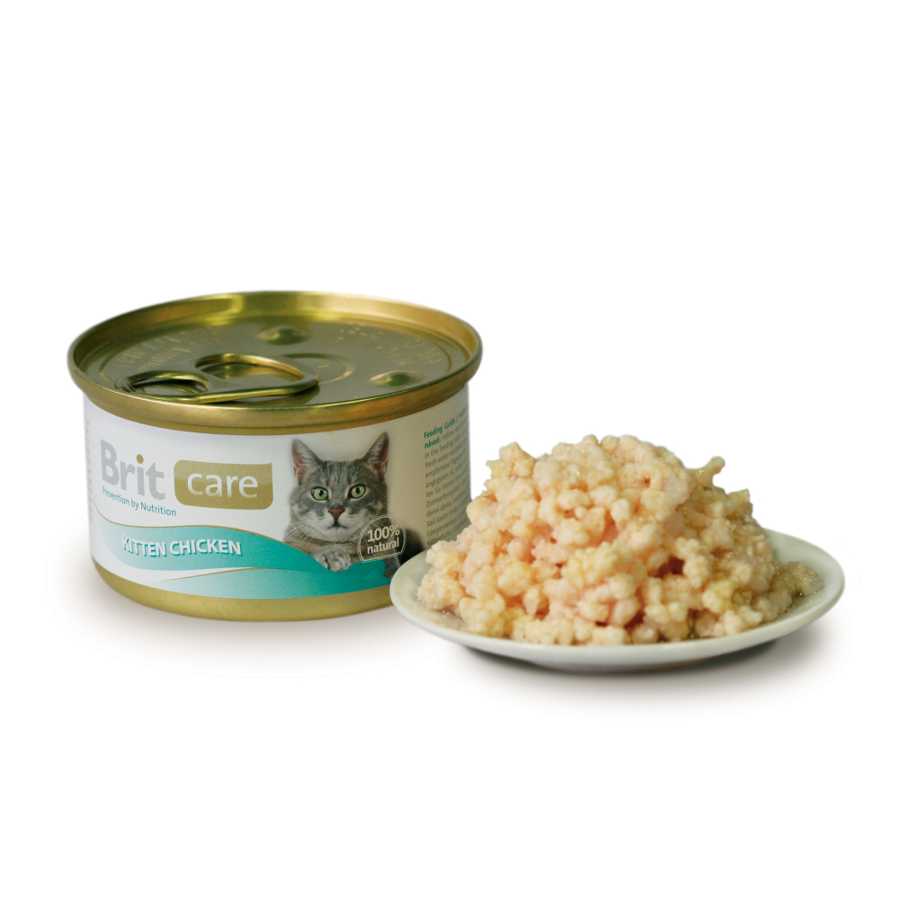 Brit Care Cat Kitten Chicken 80 g kjøp billig med rabatt