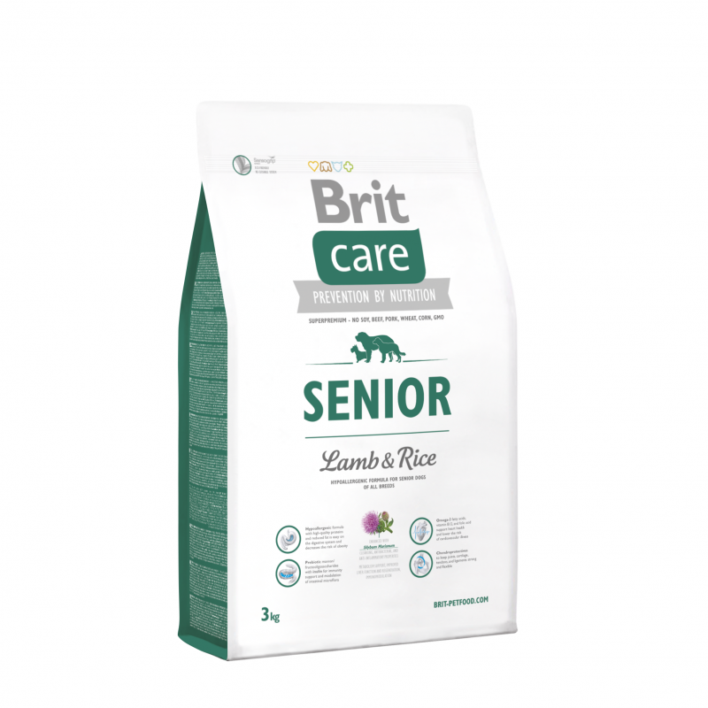 Brit Care Senior Lammasta & Riisiä 3 kg