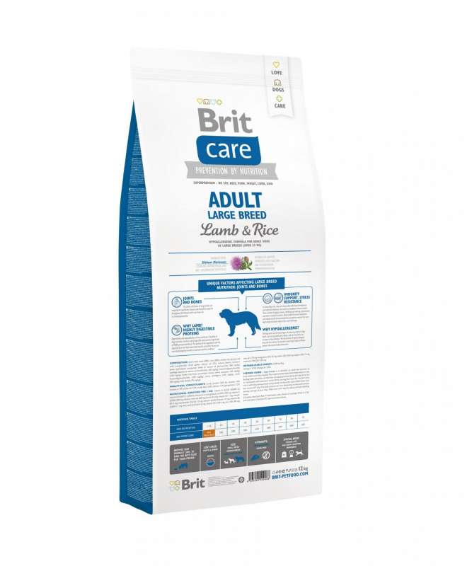 Brit Care Adult Large Breed with Lamb & Rice 3 kg, 12 kg, 1 kg