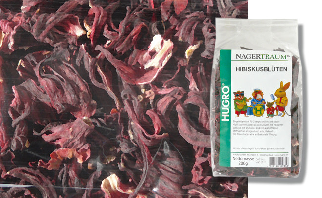 Hugro Rodent Dream Hibiscus Blossoms 200 g 4017169112310