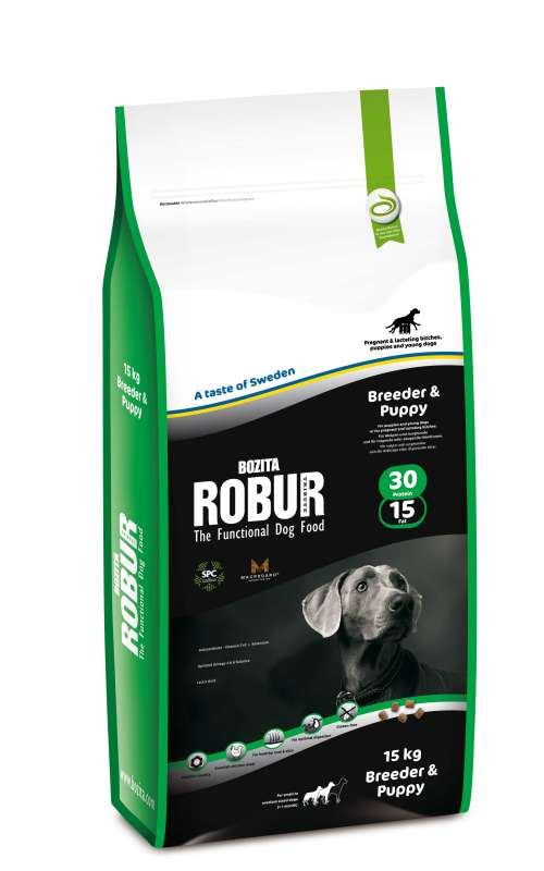 Bozita Robur Breeder & Puppy 5 kg, 2 kg, 15 kg test