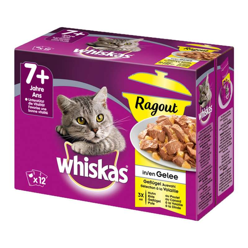 Whiskas Casserole Poultry Selection in Jelly 7+ 12x85 g